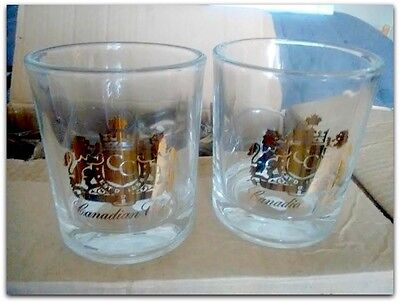 12 New Old Stock Canadian Club Whiskey Advertising Rock Glasses  in Box Glass