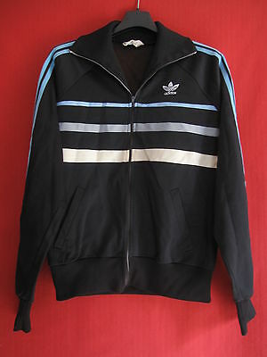 Veste Vintage First Noire ADIDAS Ventex 80'S Made in France BE taille - 168 / S