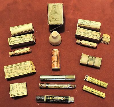 COLLECTION of ANTIQUE PHARMACEUTICAL & APOTHECARY ITEMS - maybe QUACK MEDICINE