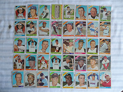 Topps 1966 - lot of 40 - baseball cards - all for one - Free shipping