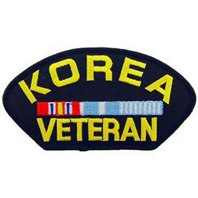 US Military Korea & WWII Iron On Patch Korean War Veteran On Vest Hat Jacket New