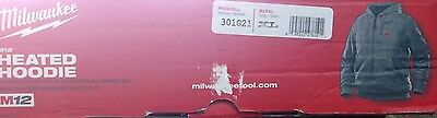BRAND NEW Milwaukee M12 Heated Hoodie Model# 301G21  Size XL  Hoodie Only