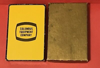 Vintage Playing Cards from the 1960's - Columbus Equipment in 2 Piece Box