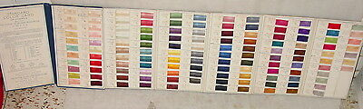 Antique 1916 3Rd Ed. Standard Textile Color Card Of America Fold Out Swatch Book