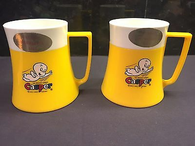 2 Vintage 1971 Yellow Casper the Friendly Ghost Cups Mugs