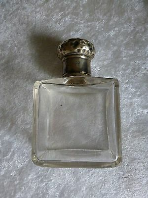 Antique English Perfume or Scent Bottle Sterling Silver Hallmarked Top Stork top