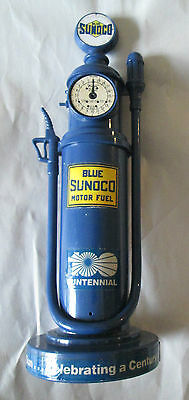 Old Blue SUNOCO Motor Fuel Advertisement Promo Rotary Telephone Works!