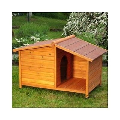 Wooden Dog Kennel Outdoor Shelter Weather Proof Winter House 132 x 85 x 86cm