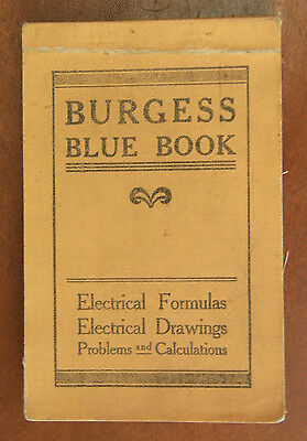 Vintage Burgess Blue Book - By Yorke Burgess -- The Burgess Company