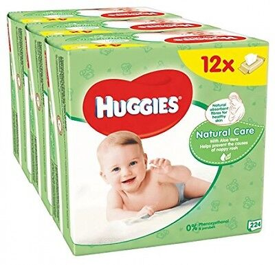 Huggies Natural Care Baby Wipes - 12 Packs 672 Wipes Total