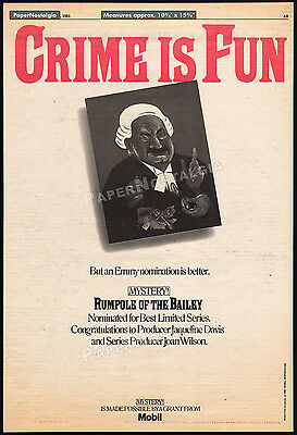 RUMPOLE OF THE BAILEY__Original 1981 Trade AD / TV Emmy promo_poster__Judge_Law