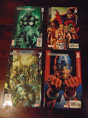 Lot of 4 Comic Books Marvel PSR The Ultimates 2, Issues 5,6,7,8