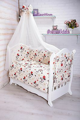 Baby Nursery Bedding Set To Fit Cot PILLOW DUVET COVERS BUMPERS CANOPY 120/60