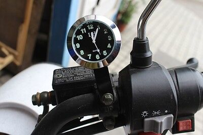 Universal Chrome Motorcycle Accessory Mount Clock For Hyosung Husqvarna Indian