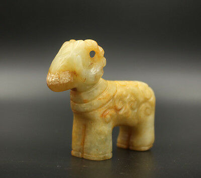 Chinese antiques old jade sheep Statues Decoration