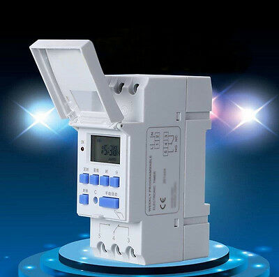 16A Digital LCD Weekly Power Programmable Timer AC 110V Time Relay Switch Tool