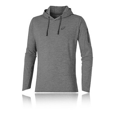 Asics Over The Head Mens Blue Long Sleeve Gym Leisure Training Hoodie Top
