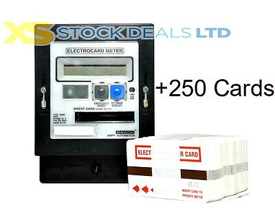 Ampy Cardmeter Prepayment Electric Slot Meter With 250 Cards 100A Meter Flats