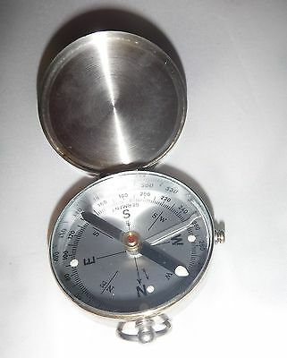 Vintage Metal Case Compass W Locking Mechanism Made In W. Germany Free Shipping