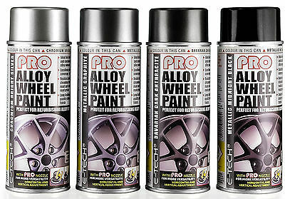 E-Tech PRO 400ml Aeosol Spray Alloy Wheel Reburish, Refresh & Customise Paint