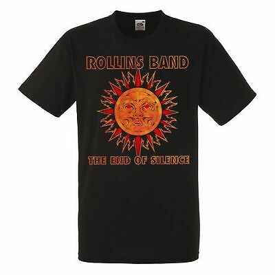 Rollins Band The End Of Silence Black T-shirt Men Shirt Rock Band Tee