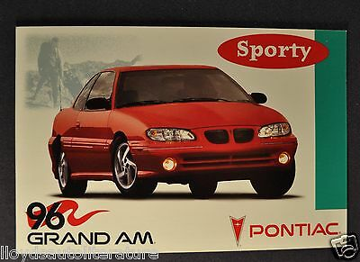 1996 Pontiac Grand Am Postcard Sales Brochure Excellent Original 96