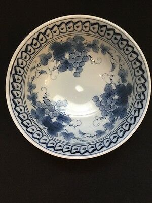 Beautiful Antique Porcelain Chinese Rice Bowl With Fruit Design
