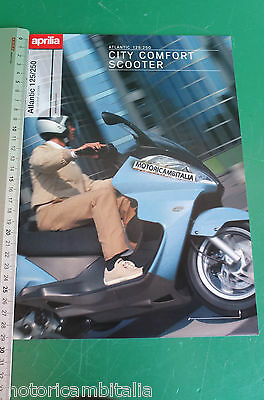 Aprilia Atlantic 125 200 Scooter Catalogo Brochure Depliant Catologue Fold Out