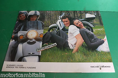 Aprilia Scarabeo 125 200 Fold Out Scooter Catalogo Brochure Depliant Catologue