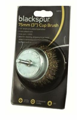 """3"""" Wire Brass Cup Brush Metal Surface Cleaning Paint Remover DIY Tool"""