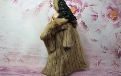 ~Honey Brown Mink Fur & Suede Coat & Headband 4 Sydney Gene Tyler dolls~dimitha~