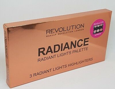 Makeup Revolution Highlighter Palette 3 Baked Radiance New