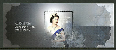 Gibraltar 2017 MNH Queen Elizabeth II Accession Sapphire Jubilee 1v M/S Stamps
