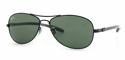 Ray-Ban RB8301 002 Black Frame Green Classic 56mm Lens Sunglasses