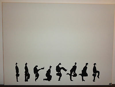 Monty Python Silly Walk Contemporary Impressionism Oil Canvas Painting Banksy