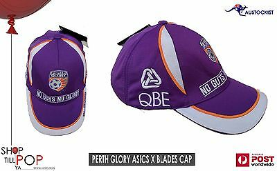 Perth Glory A League 2012 Adj' Cap Asics Blades BNWT Purple Soccer Football Sun