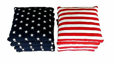 Stars and Stripes - 8 Regulation Cornhole Bags! American Flag Bag! High Quality