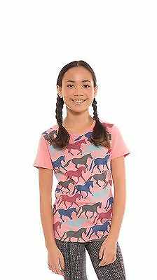 Kerrits Kids Round Up Horse Tee Shirt-Melon-XL