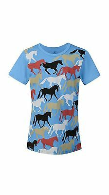 Kerrits Kids Round Up Horse Tee Shirt-Opal-XL