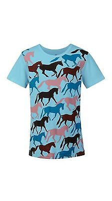 Kerrits Kids Round Up Horse Tee Shirt-Sky-M