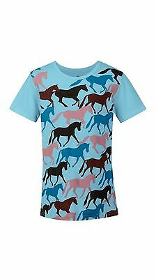 Kerrits Kids Round Up Horse Tee Shirt-Sky-XL