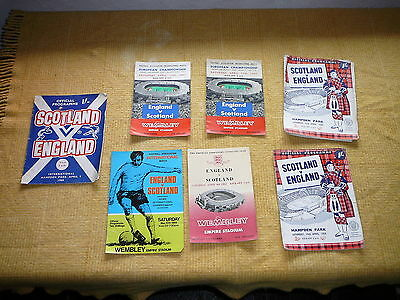 Collection Of 7 England Vs Scotland Official Programmes 1958-1969 Free Uk Post
