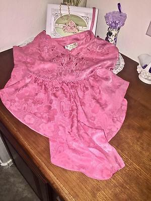 Vintage Victoria's Secret Pink Satin Cami & Panties Set  Size M   #021019
