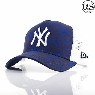 Kids Youth New Era 9FORTY 'Trucker' New York Yankees Blue Adjustable Curved Cap
