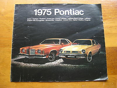 1975 Pontiac Original Full Line Sales Brochure