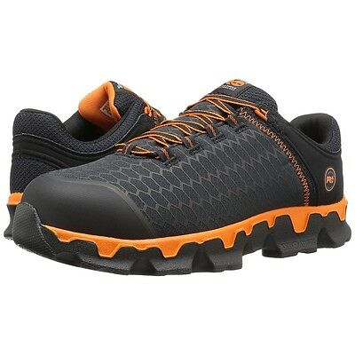 Timberland PRO Work Boots Black Orange Powertrain Sport Alloy Safety Toe Shoes