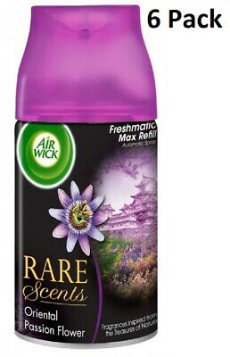6 x Air Wick Freshmatic Max Automatic Spray Refill 250ml - Oriental Passion Flow