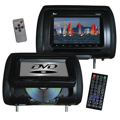 "TVIEW T737DVPLBK  Tview 7"" In Headrest Monitor with DVD Player Built in Speak..."