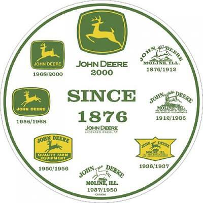 John Deere Round History Of Logos Metal Sign