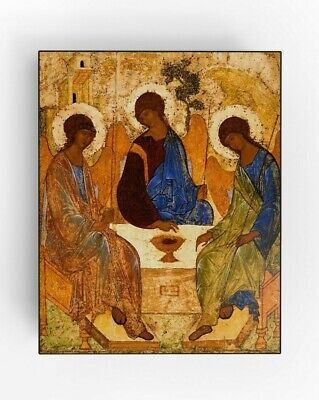 The Holy Trinity. Andrei Rublev. Religious Icon. Русская Православная икона